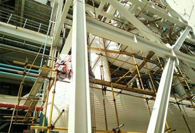 广西岩棉板硅酸铝电厂安装案例