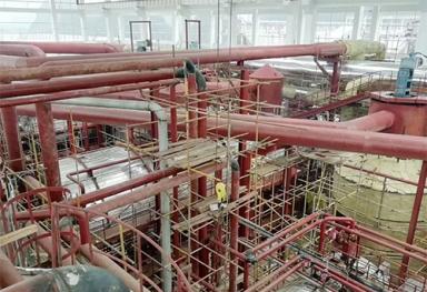 广西岩棉管岩棉保温材料施工现场